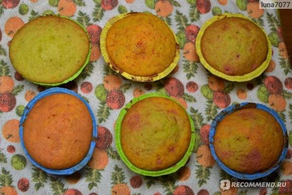 Набор для выпечки капкейков Печем дома Разноцветные фантазии результат
