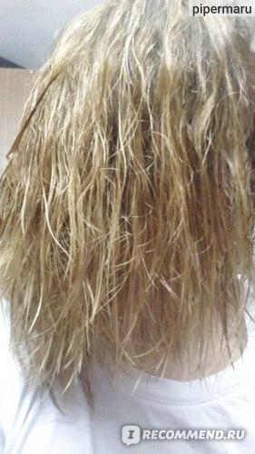 Волосы после подсушивания перед применением