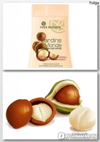 Гель для душа Ив Роше / Yves Rocher Jardins du Monde Гватемальский орех Макадамия фото