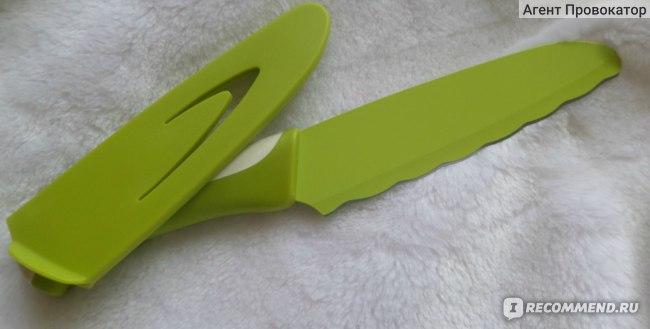Нож Fissman  для бутербродов Gladiolo 15 см с чехлом артикул 2235 фото