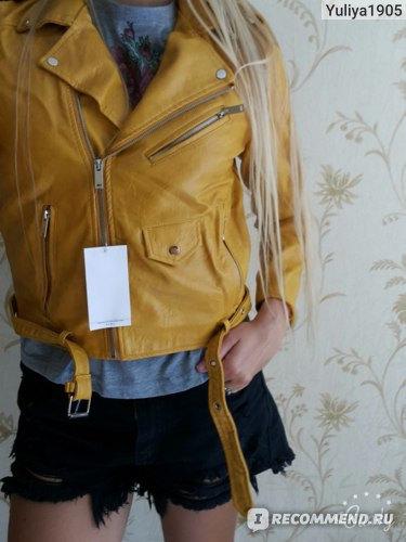 Куртка AliExpress 2016 Mujer Women Leather Jacket Xdg100 And Wind Lightning Bright New Ladies Leather Jackets Coats Women 0331 фото