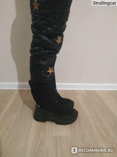 Зимние штаны AliExpress Winter Children Down Cotton Padded Pants Baby Boys Girls Clothing Solid Ski Windproof Warm Trouser Kids Snow Pant Teen Leggings фото