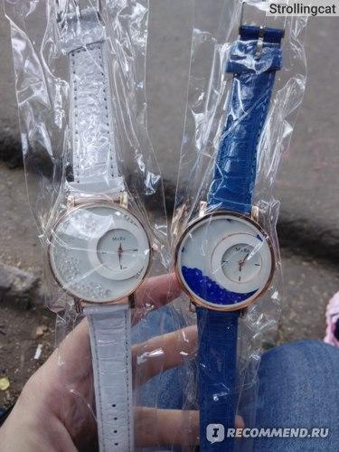 Часы женские Aliexpress New Trendy Moving Rhinestone Women Watches PU Leather Round Gold Watch Women High quality Ladies Fashion фото