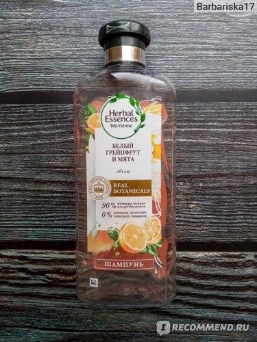 Шампунь для волос HERBAL ESSENCES Белый грейпфрут и мята (объем) фото