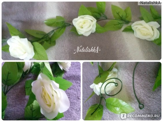 "Гирлянда из роз с Aliexpress ""2.5M Artificial Silk ROSE Fake FLOWER Ivy Leaf Garland Plants Home Wedding Decor"" фото"