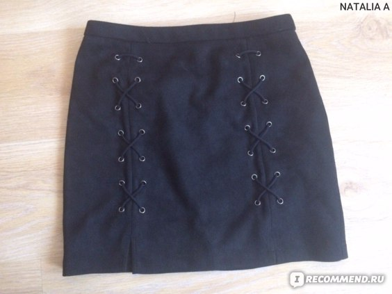 c659277f8 Юбка AliExpress Simplee Autumn lace up leather suede pencil skirt Winter  2016 cross high waist skirt