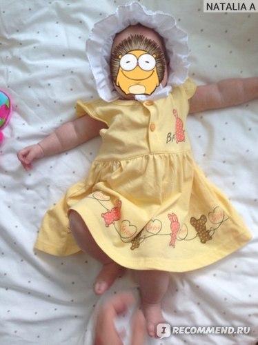 Платье детское AliExpress Free shipping Summer baby clothing Cotton Cartoon Printing 3 colors Sleeveless 6M-24M Baby Dress фото
