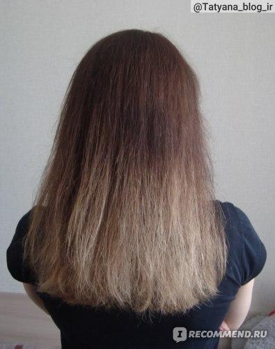 Волосы после применения филлера выссушенные феном.