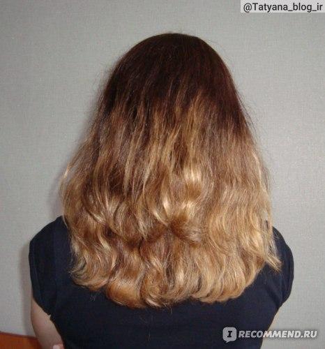 Внешний вид волос после применения шампуня и восстанавливающей маски.