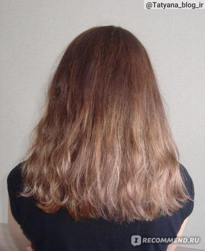 Волосы после применения филлера, высушенные естественным путем.