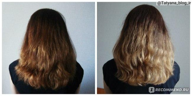 Сравнение состояния волос до применения шампуня и спустя несколько недель.