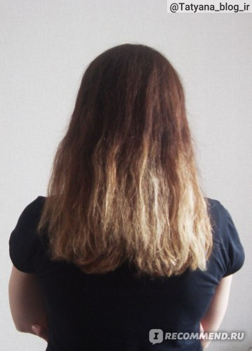 Мои волосы до применения филлера.