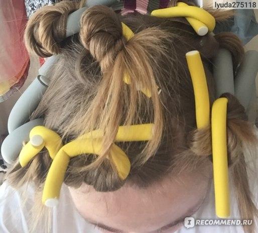 мой способ накрутки волос для ленивых