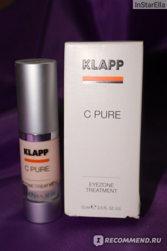 Крем для кожи вокруг глаз KLAPP C Pure Eyezone Treatment фото