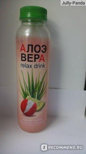 Напиток сокосодержащий Алоэ вера Relax drink Личи-лайм фото