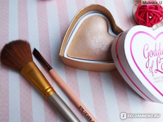 Хайлайтер MAKEUP Revolution I ♡ Makeup Blushing Hearts Goddes of love