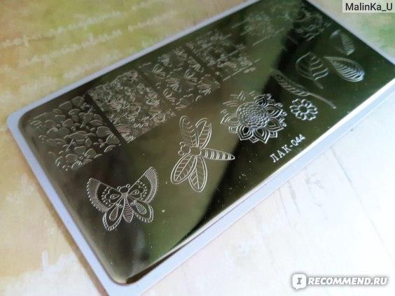 Пластина для стемпинга ЛАКShery прямоугольная, 120 х 60 фото