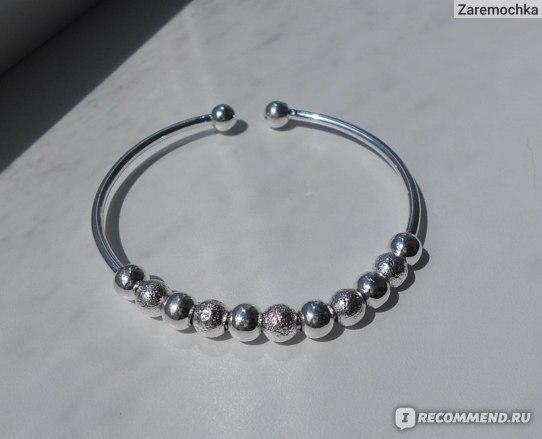 Браслет Aliexpress X New Fashion Women Jewelry Silver Plated Bead Bangle Bracelet Wristband Gift Adjustable фото