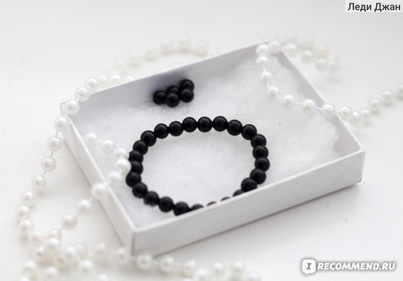 Браслет Aliexpress Natural stone Black Onyx Bracelet 6MM semi precious stone round beads stretch bangle bracelet for men girl women jewelry фото