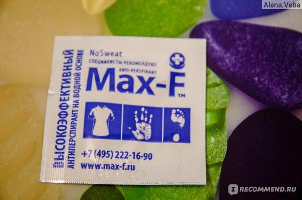 Дезодорант-антиперспирант Max-F No sweat фото