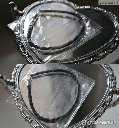 Браслет SUNLIGHT BRILLIANT Кожанный с серебряной застежкой фото