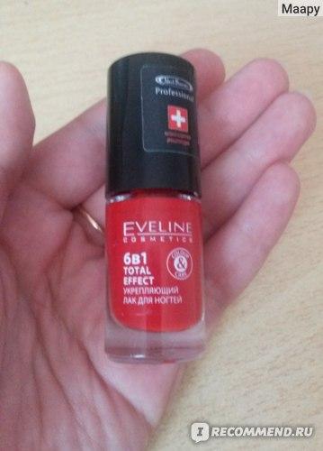 Лак для ногтей Eveline   6В1 TOTAL EFFECT укрепляющий фото