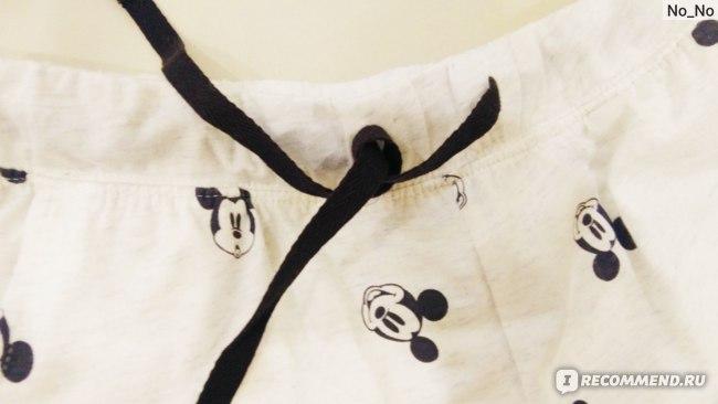 Брюки H&M Трикотажные пижамные Микки Маус фото