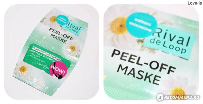 Маска для лица Rossmann Rival de Loop Peel-Off Maske очищающая с экстрактами алоэ и ромашки  фото