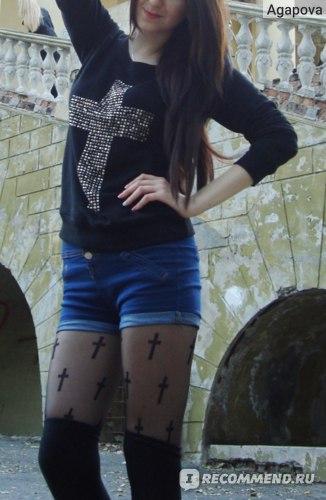 Свитшот AliExpress New Autumn Winter Women's Hoodies Punk Rivet Latin Cross Pullover Sweatshirts Tracksuit Tops Outerwear For Woman Plus Size фото