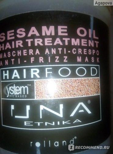Маска для волос Rolland UNA Sesame Oil с кунжутным семенем фото