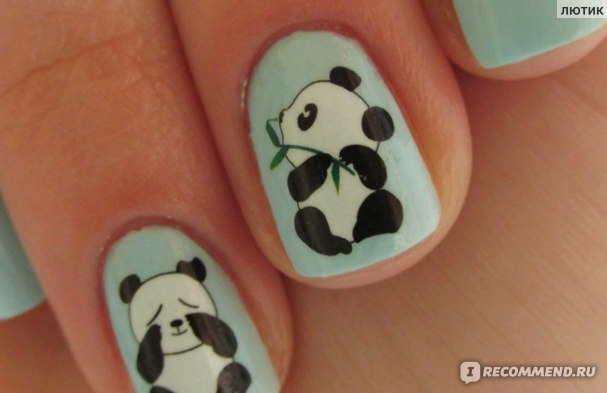 Наклейки для ногтей Aliexpress 1sheets New Pretty Panda Bamboo Designs XF1237 фото