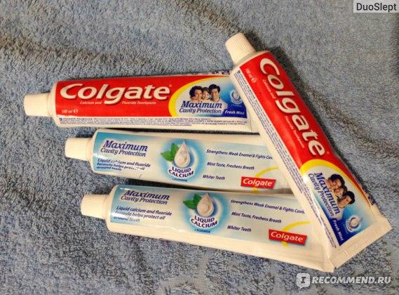 Зубная паста Colgate Максимум защиты от кариеса (С жидким кальцием и фтором) фото