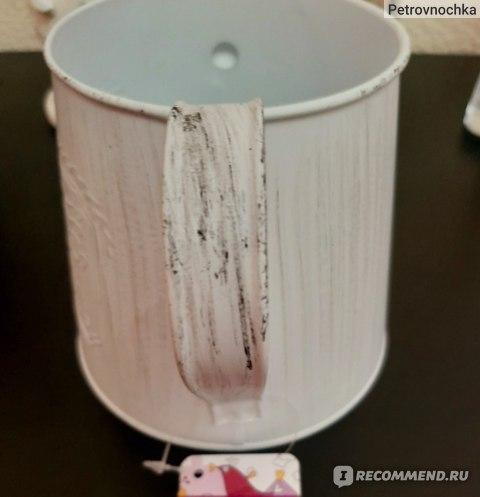 Декоративное металлическое кашпо Fix Price арт. EH04-0688 фото