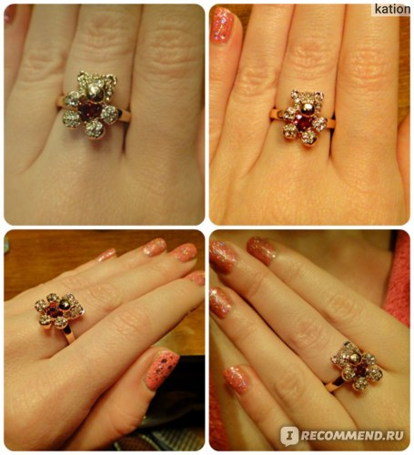 Кольцо Aliexpress Top Quality ZYR130 Gold Little Bear Red Crystal Ring 18K Gold Plated Austrian Crystals Full Sizes Wholesale фото