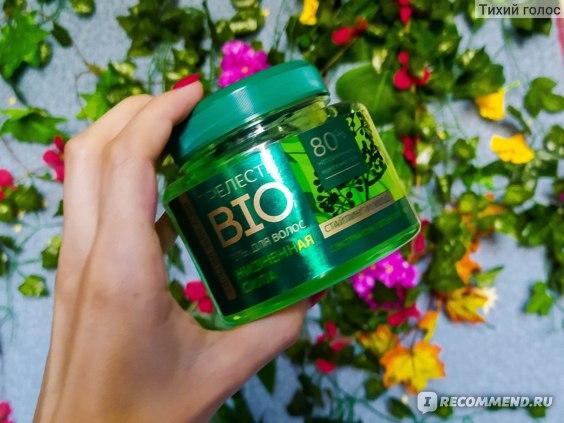 Гель для волос Прелесть BIO с экстрактом зеленого чая сильной фиксации.
