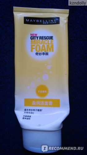 Пенка для умывания MAYBELLINE City Rescue Miracle Foam фото