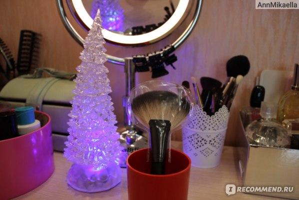 Веерная кисть для макияжа РГ professional для снятия излишек  фото