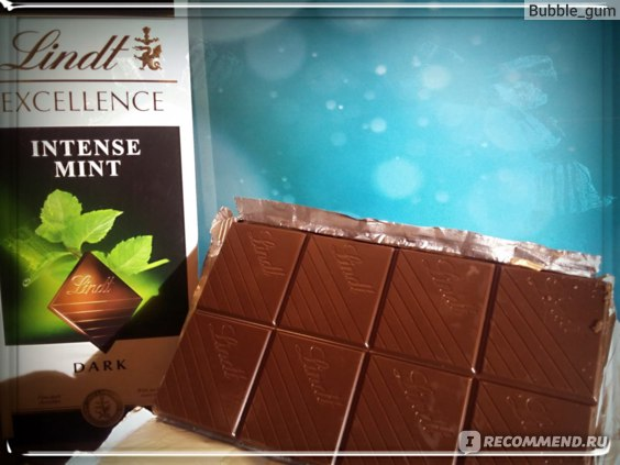 Шоколад Lindt Excellence Intense Mint фото