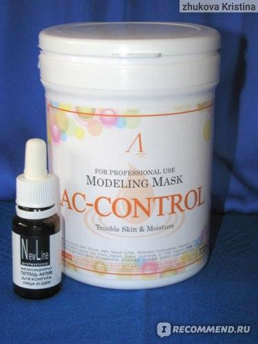 Маска альгинатная Anskin Modeling Mask AC-Control Trouble Skin & Moisture фото