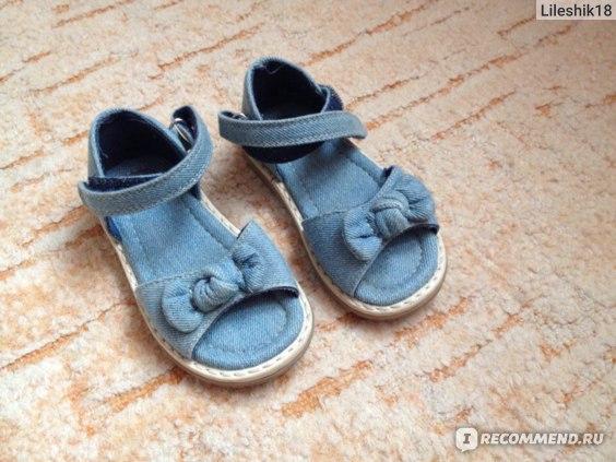 Босоножки Mothercare джинсовые H4206 фото