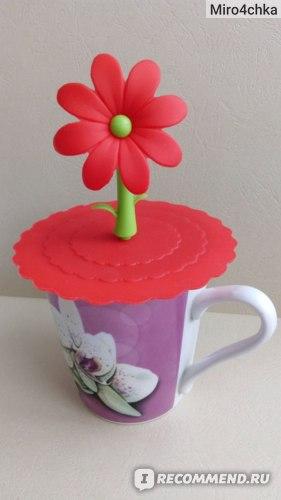 Силиконовая крышка для кружки AliExpress  Silicone Cute Anti-dust Glass Cup Cover Coffee Mug Suction Seal Lid Cap фото