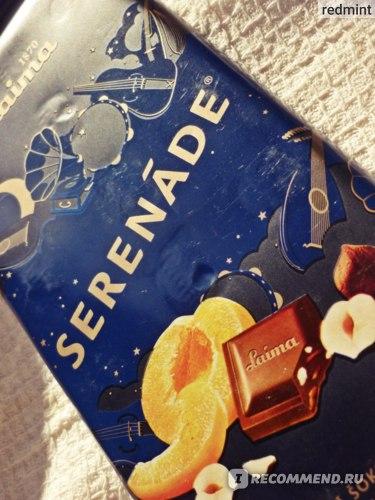 Шоколад Laima SERENADE с абрикосами и лесными орехами фото