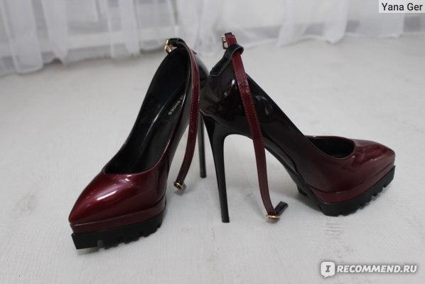 Туфли на высоком каблуке Aliexpress Nysiani Ultra High Platform Heels For Women 2016 Autumn Thin Heels Shoes Patent Leather Buckle Strap Sexy Pointed Toe Pumps Shoe фото