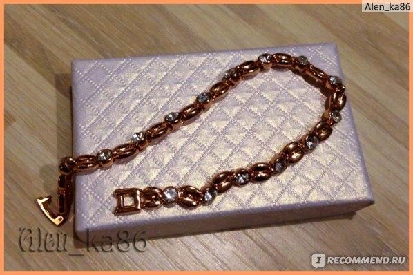 Браслет Aliexpress ROXI Gifts Genuine Austrian Crystals Elegant Wheat Bracelet Rose Gold/Platinum Plated 100% hand Made Jewelry фото