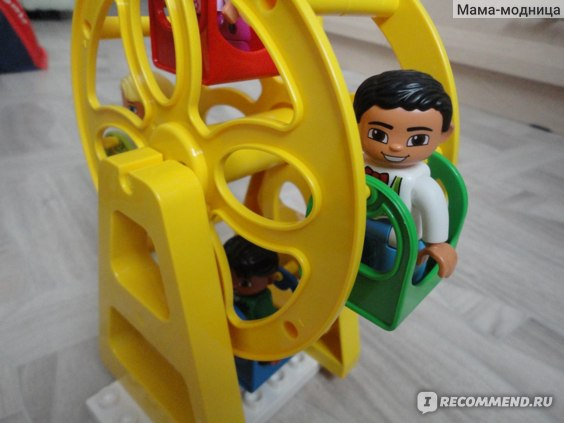 Aliexpress Конструктор Big Blocks Complement Slide Ladder Ferris Wheel Swing Playground Accessory Compatible with Duplo DIY Toys фото