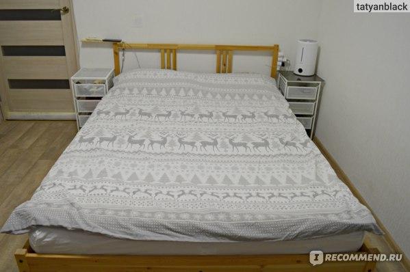 Заправленная кровать с этим матрасом. Askona Basic отзыв Аскона Бейсик матрас ортопедический хороший цены запах вес срок службы