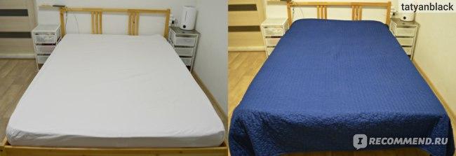 3. Белая подшитая простынка. 4. Застеленная кровать. Askona Basic отзыв Аскона Бейсик матрас ортопедический хороший цены запах вес срок службы