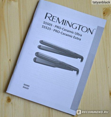 инструкция выпрямителя для волос Remington PRO-Ceramic Ultra (S5505)