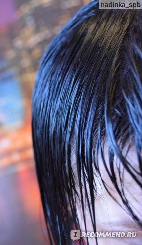 мокрые волосы сразу после окрашивания