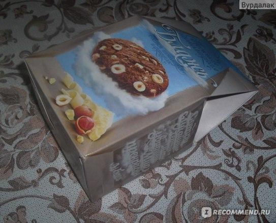 Печенье Мистраль Нежная шоколадная блажь с белым шоколадом и фундуком фото